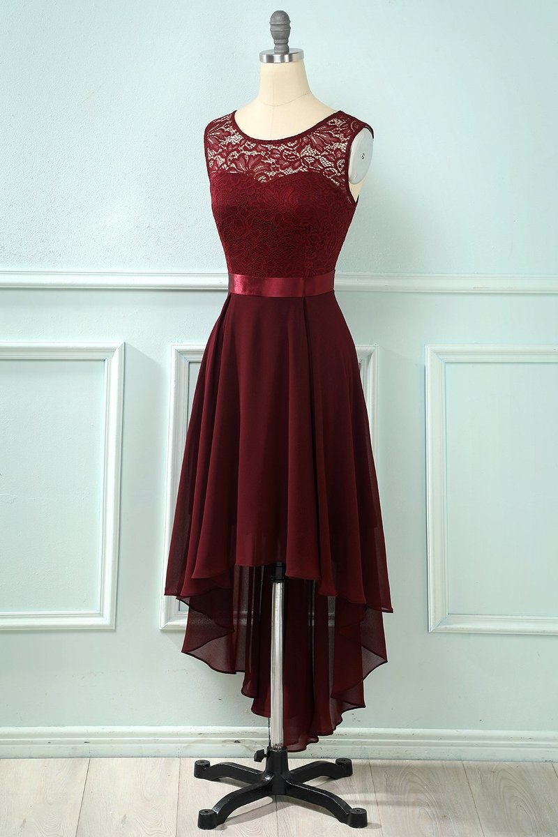 Hur man bär hög klänning med låg spets
