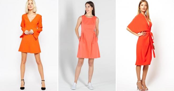 Hur man bär orange och blå klänning