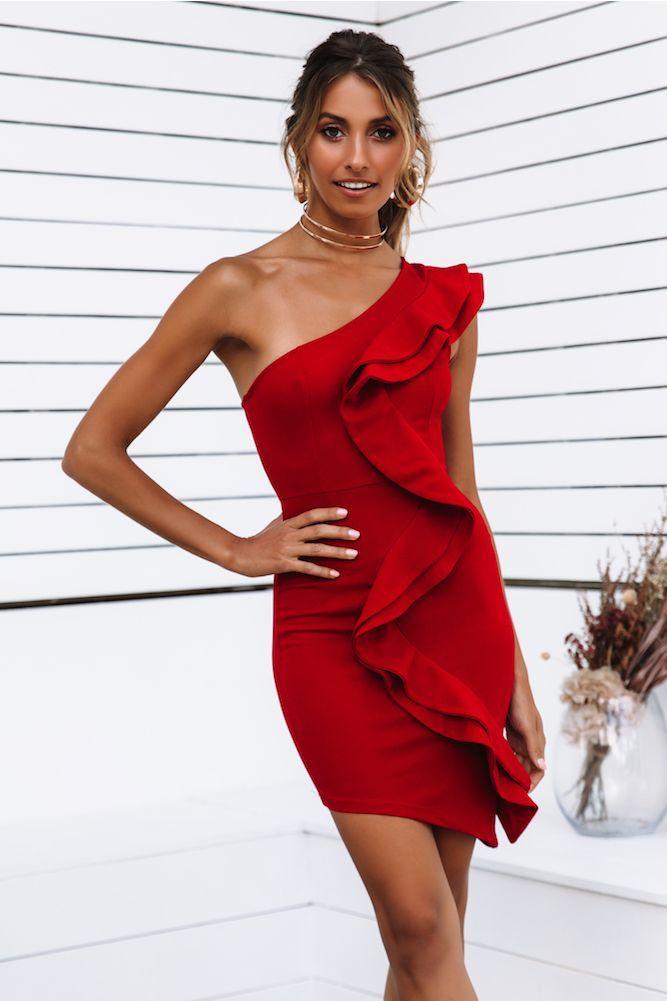 Hur man bär röd Bodycon-klänning