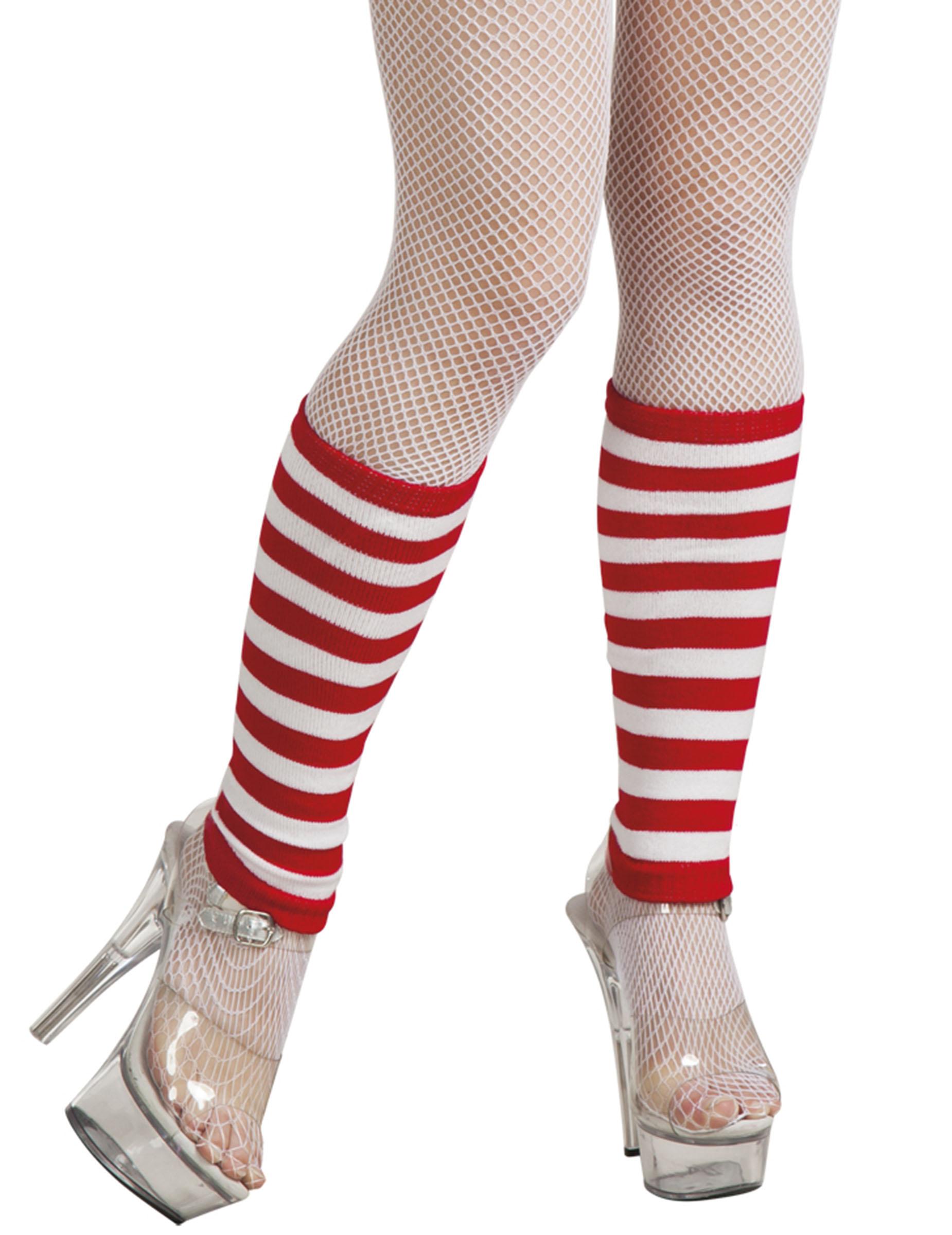Hur man bär röda och vita randiga leggings