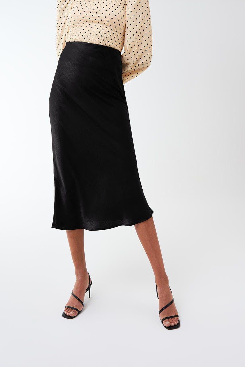 Hur man bär svart corduroy kjol