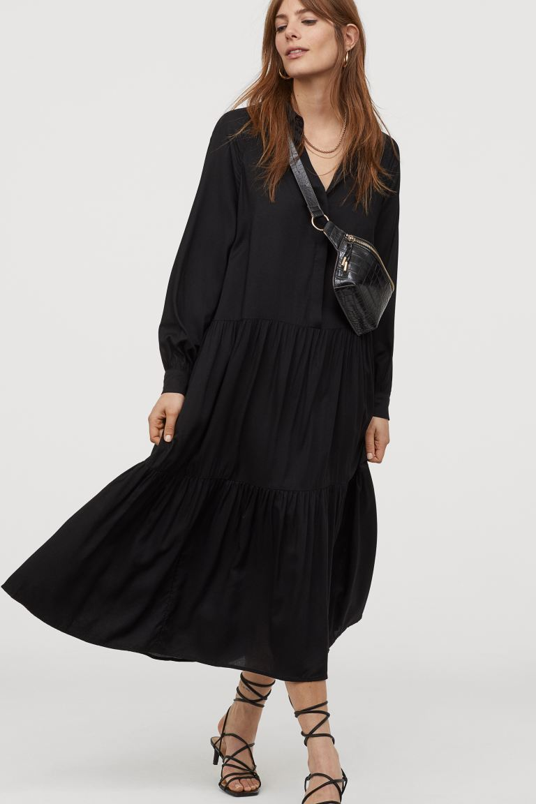 Hur man bär svart krage klänning