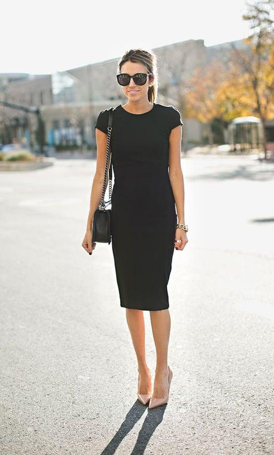 Hur man bär svart slida klänning