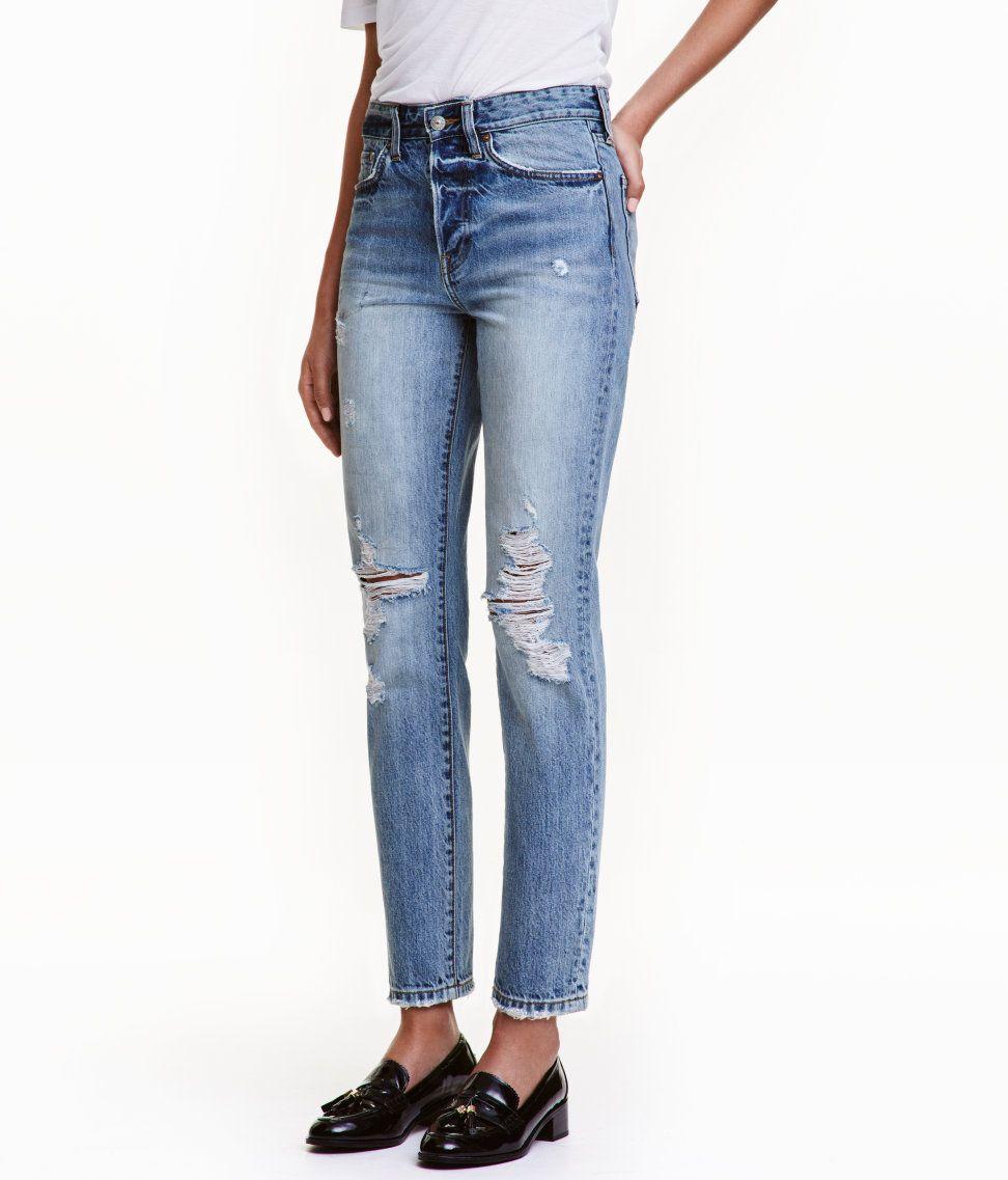 Hur man bär uppskurna jeans