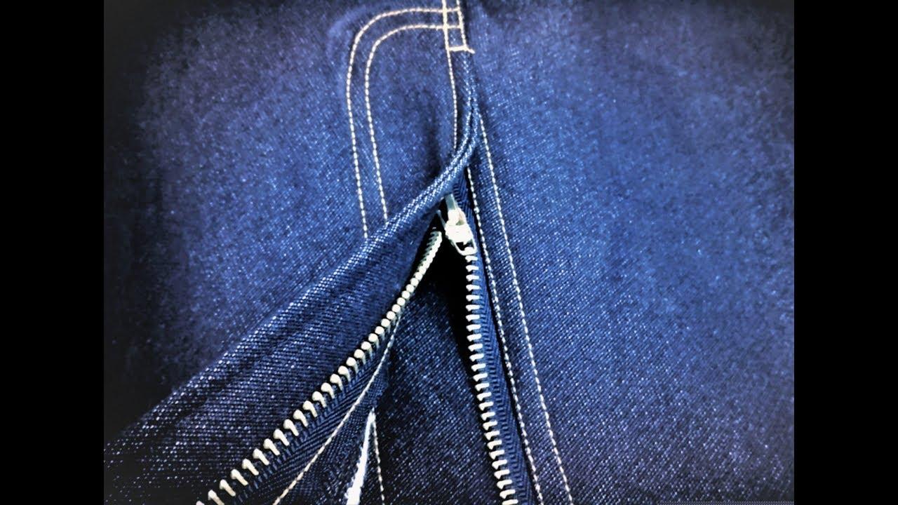 Hur man utformar knappar Fly Jeans