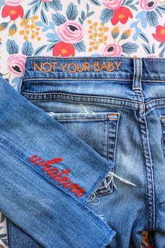 Hur man utformar målade jeans