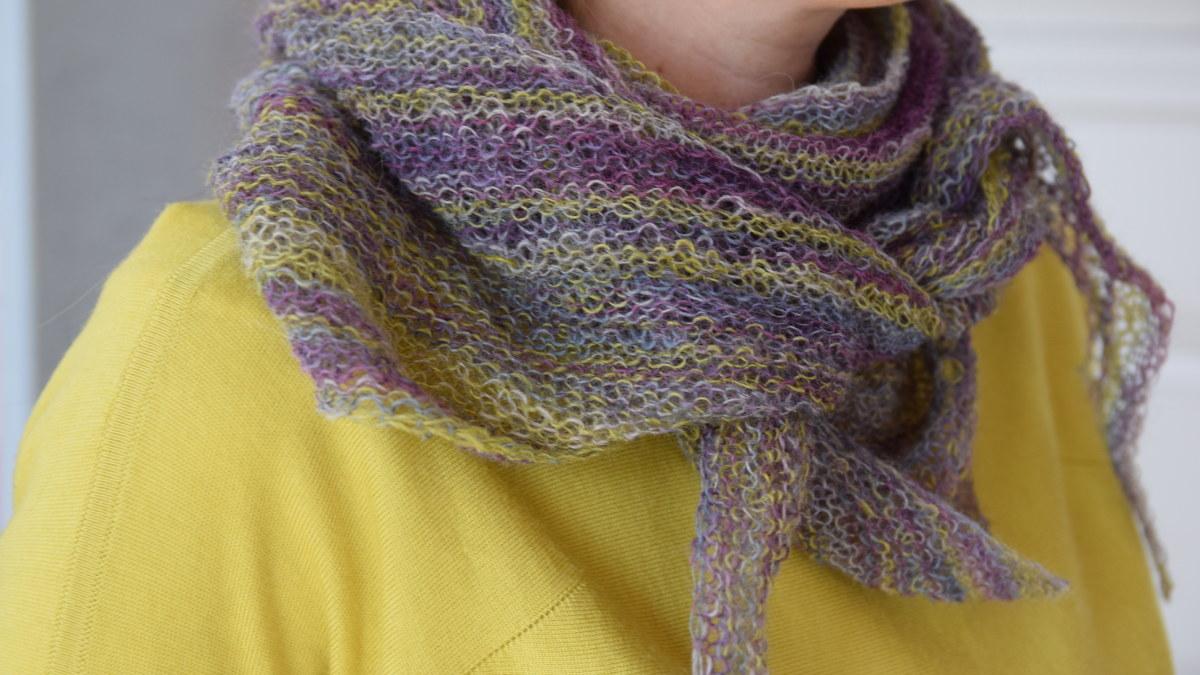 Hur man utformar stickad sjal