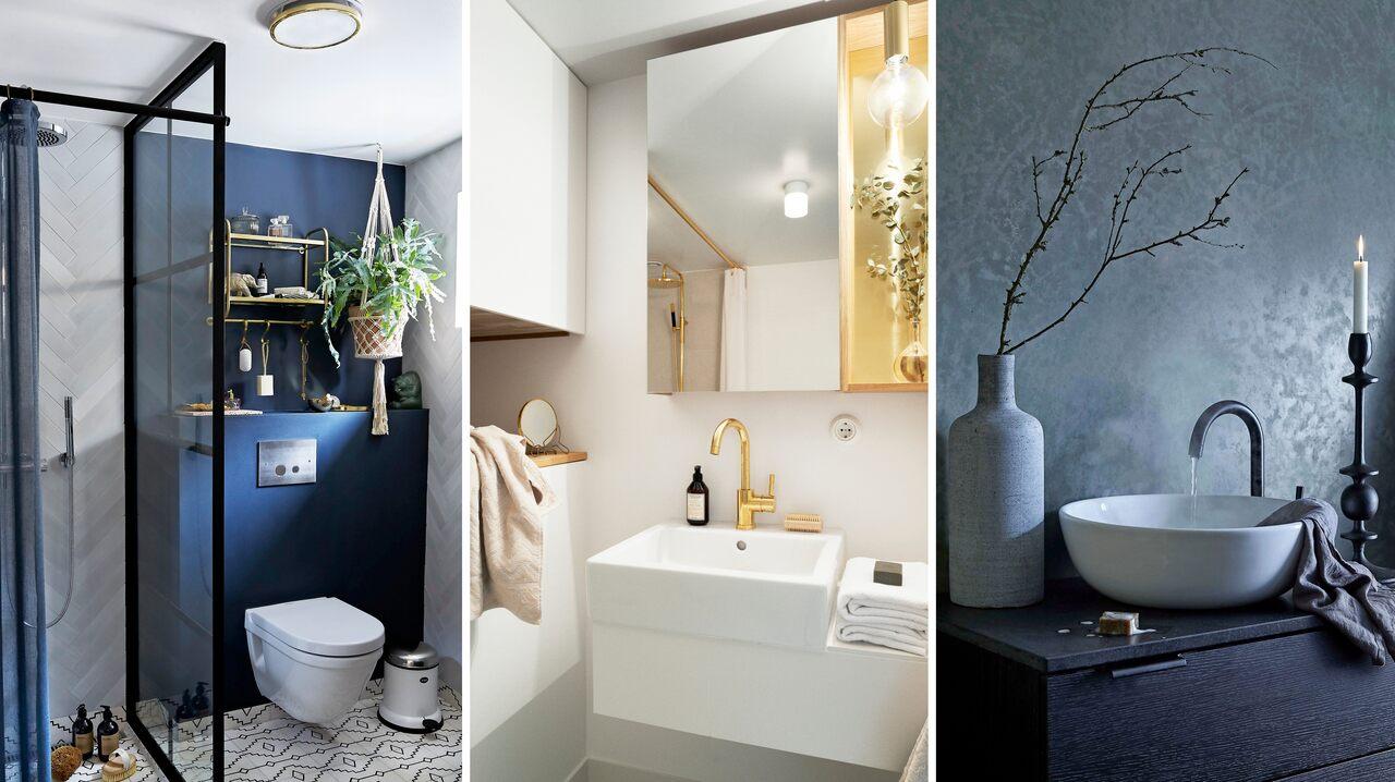 Idéer att använda Marsala för badrumsdekor