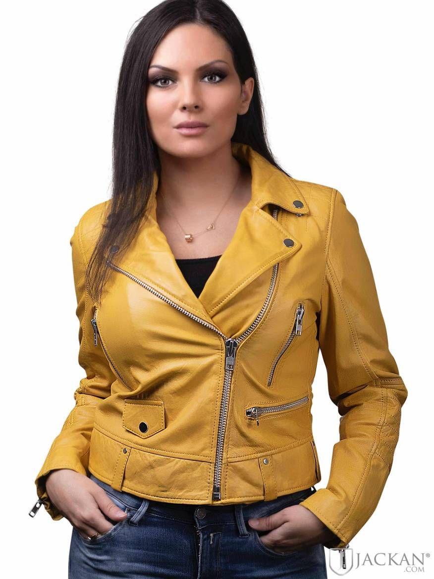 Idéer för gult läderjacka