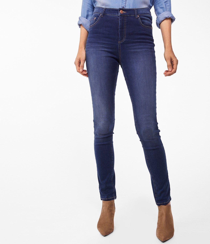 Idéer för hög midja med skinny jeans