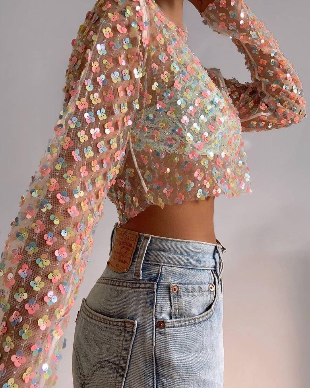 Idéer för kläder med paljetter