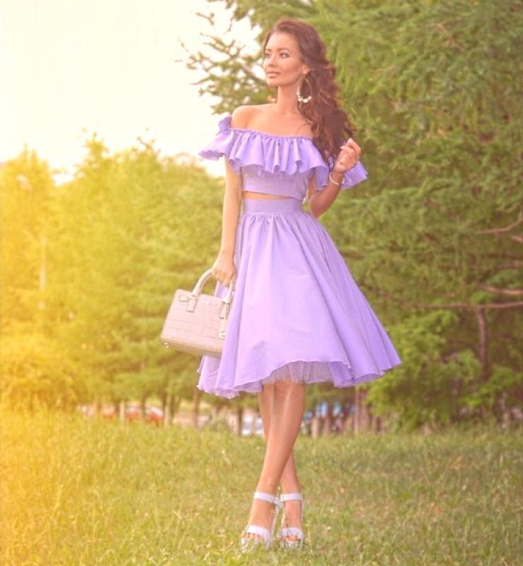 Idéer för rosa midiklänning och kjoldräkt