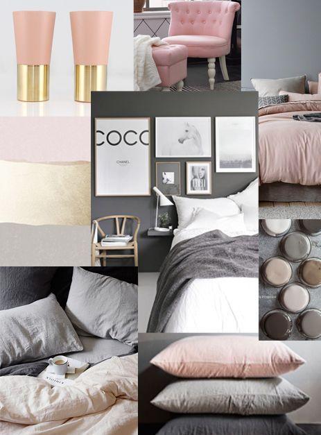 Idéer för rosa svarta sovrum