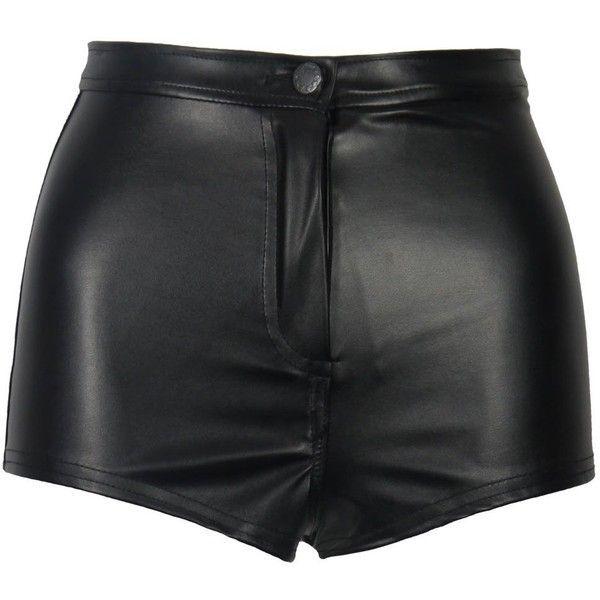 Idéer för svart läder shorts
