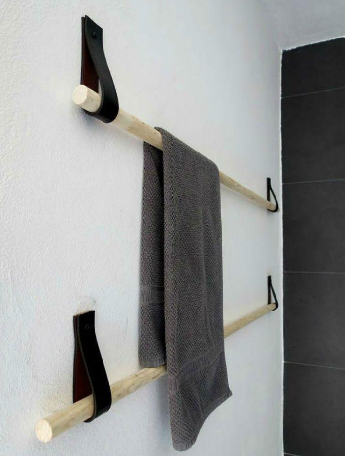 Idéer till förvaring av badrumshanddukar