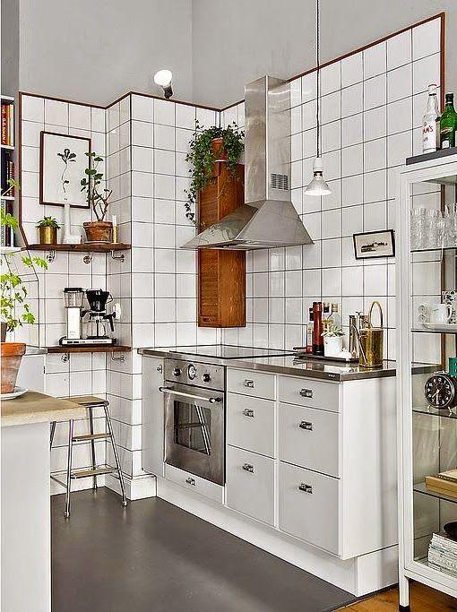 Industriell och vintage köksdesign i Stockholm