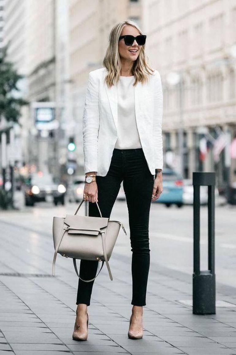 Khaki Blazer Outfit Idéer