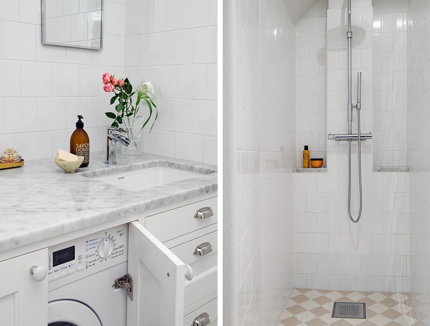 Kreativa sätt att dölja en tvättmaskin i ett badrum