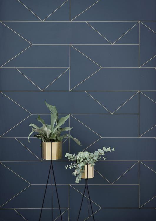 Lägenhet med blues och geometri