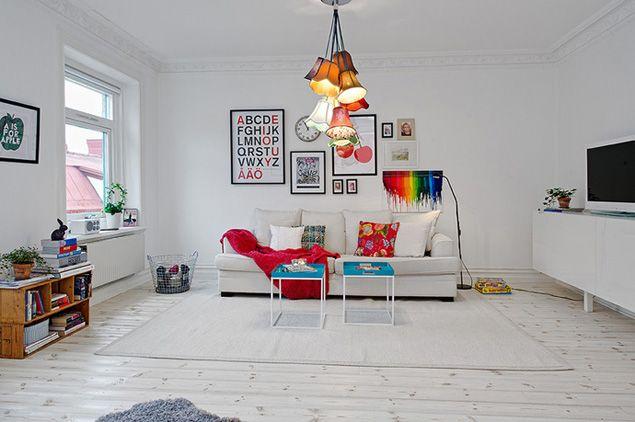 Lägenhet med ljusa detaljer