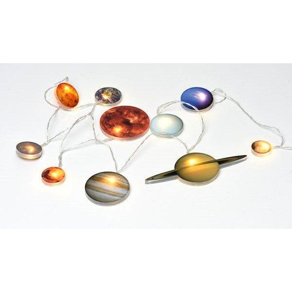 Lampa inspirerad av solsystemet