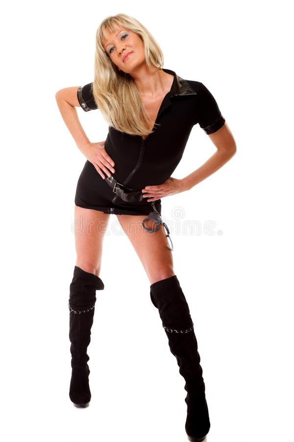 Latex stövlar för kvinnor