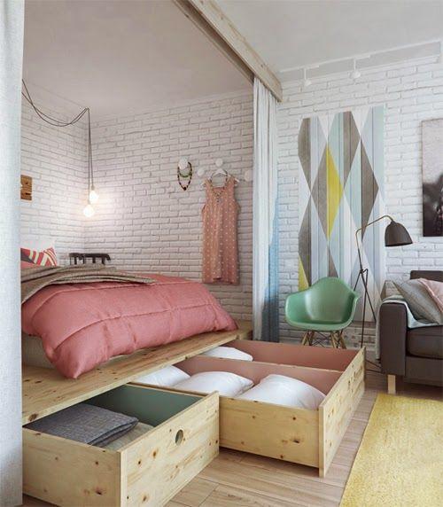 Liten lägenhet plattform säng