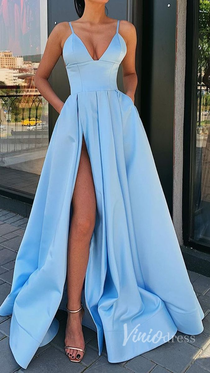 Ljusblå Prom Dress Idéer