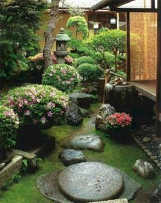 Lugna japanska inspirerade gårdsidéer