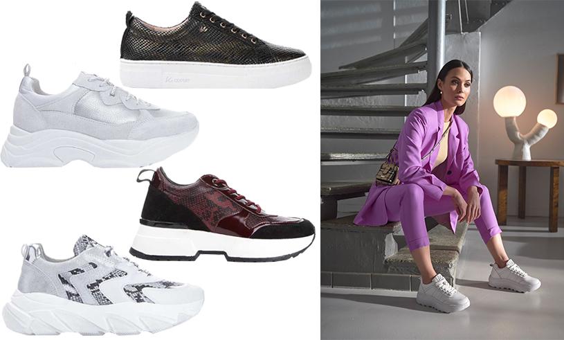 Matchande vita sneakers