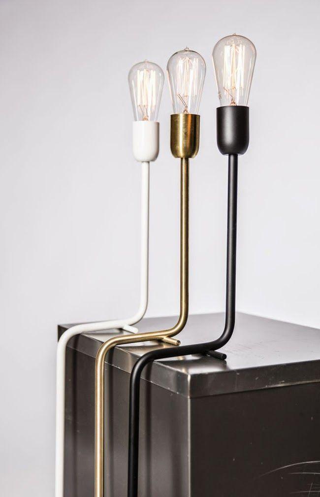 Minimalistisk industriell lampa