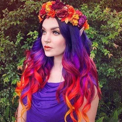 Populära idéer för Geode hårfärg