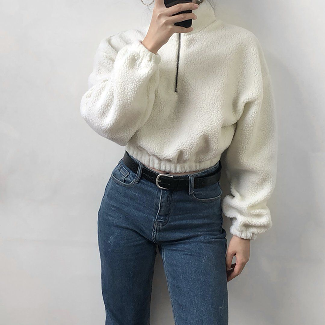 Quarter Zip Pullover Outfit Idéer