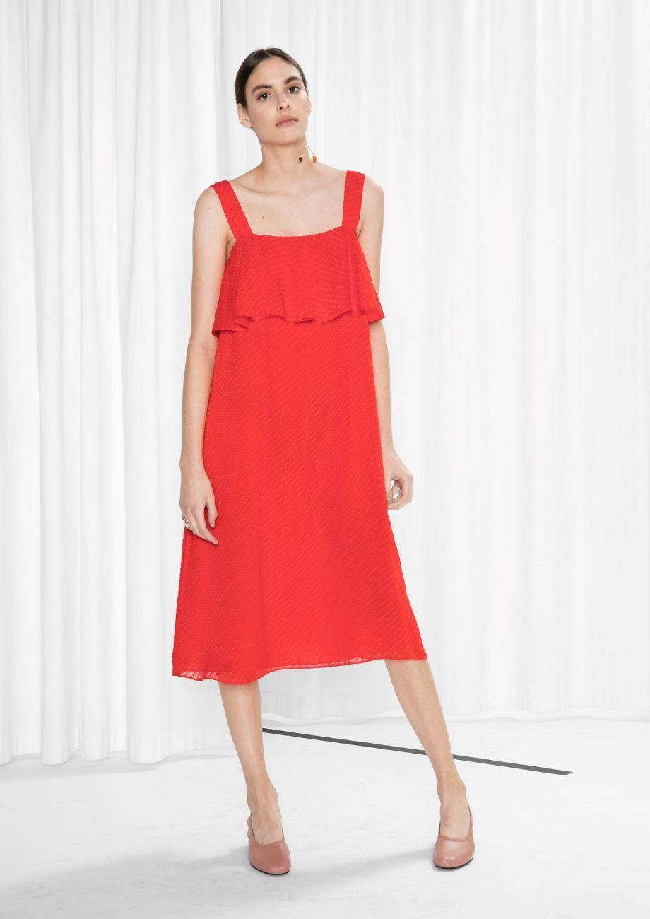 Red Denim Dress Idéer