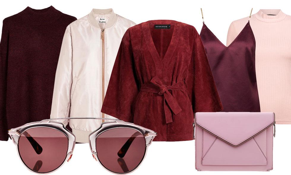 röd och rosa kombination