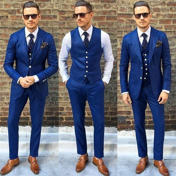 Royal Blue Suit Outfit Idéer