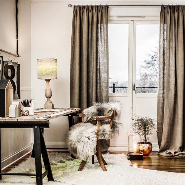 Sätt att göra ett heminredning med gardiner