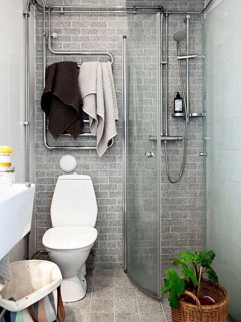Små badrum med dusch