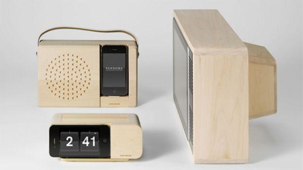 Snygg gammal TV-dockningsstation för Iphone