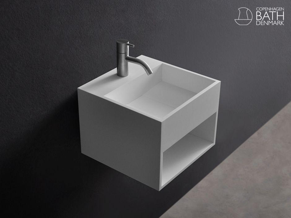 Snygg svartvitt tvättställssamling
