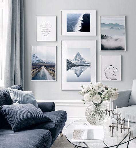 Snygga geometriska dekoridéer för ditt vardagsrum