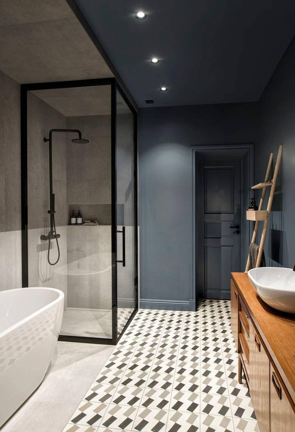 Snygga sätt att använda konkret badrum