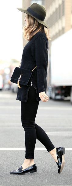 Spiked Loafers Outfit Idéer