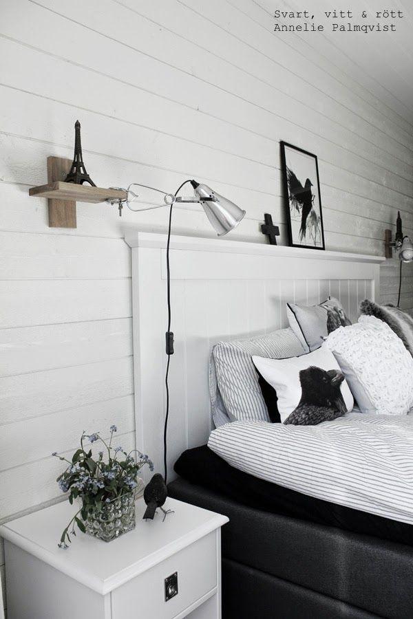 Svarta vita sovrum