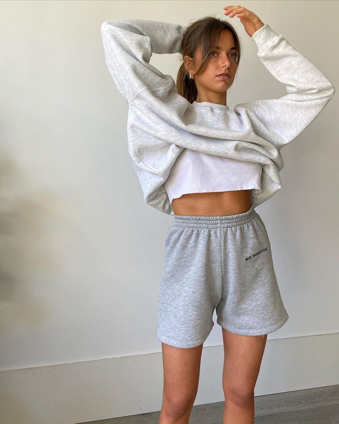 Sweatpant Shorts Outfit Idéer