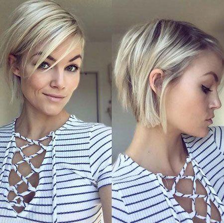 Trendig frisyr för kortklippt hårkvinna