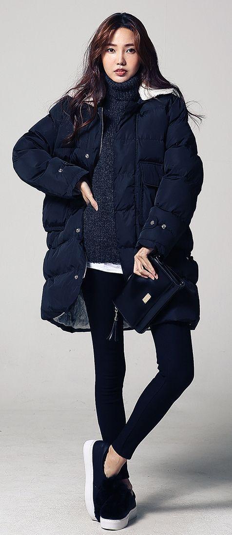 Trendig vinterkoreansk stil