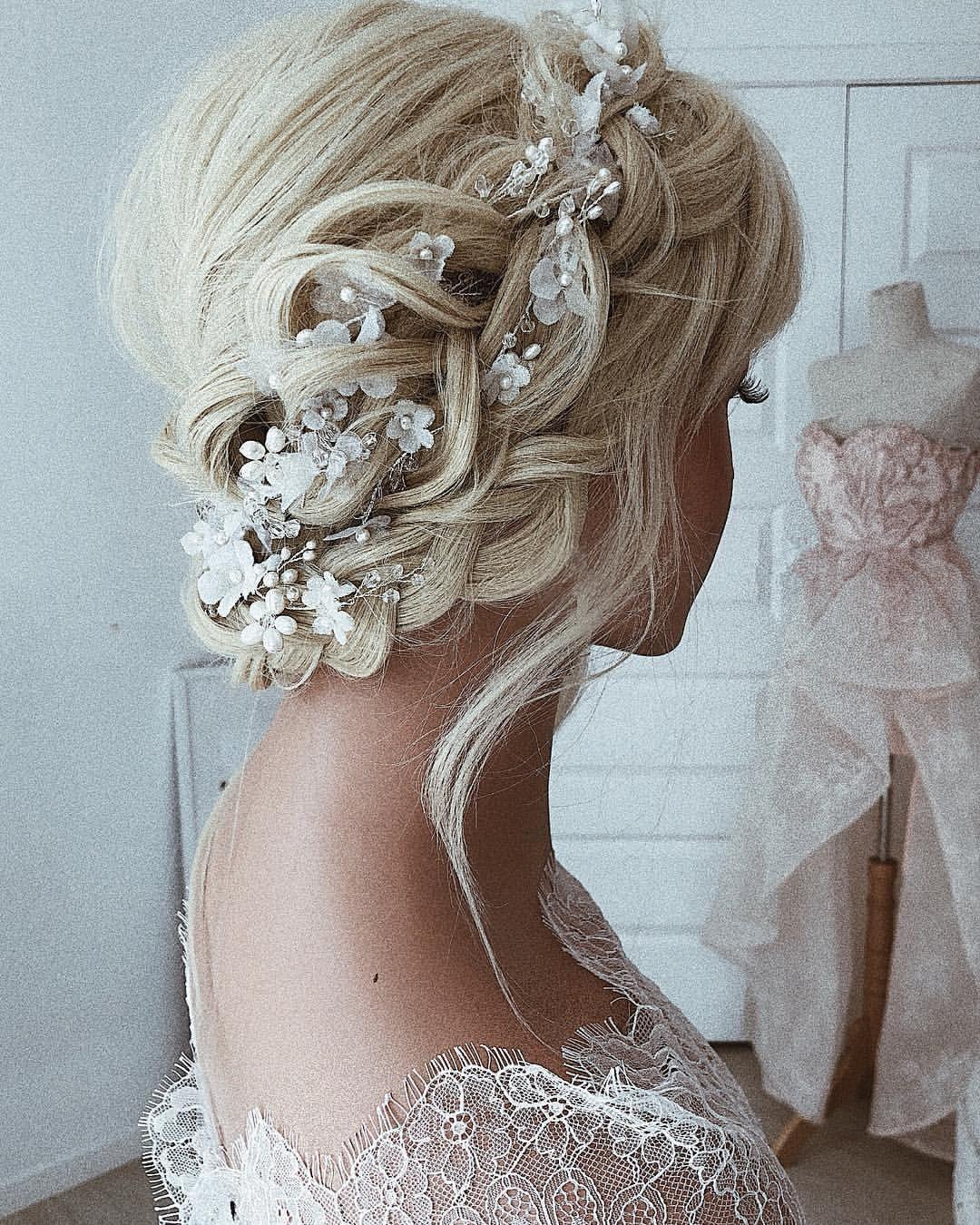 Ulyana Aster bröllop frisyrer