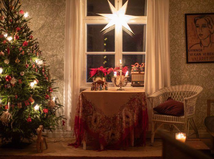 Underbara inomhusidéer med julbelysning