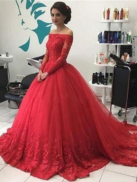 Vackra rödbruna Quinceanera-klänningar